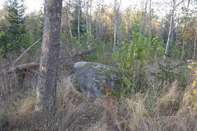 """GUOSTAGALIS STONE, CALLED """"DEVIL'S CHAIR"""""""